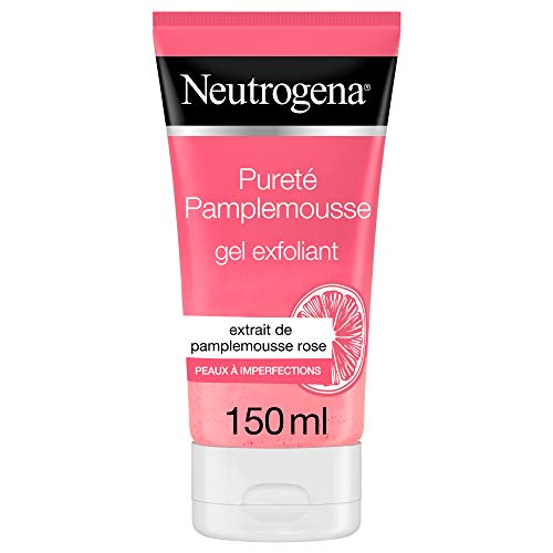 Neutrogena Gel Nettoyant Exfoliant Visage, Pamplemousse Rose, 1 Tube de 150ml
