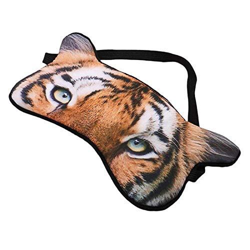 Zoharm 3D máscara de ojos transpirable divertido dibujos animados animal impresión tigre Fox perro máscara de ojos sombra sueño calmante protección ojos vendados