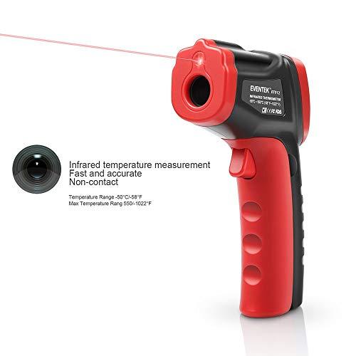 Vitorhytech GM320 Infrarot-Thermometer Digitaler Laser-Infrarot-Tester mit LCD-Beleuchtung (-50 ° C bis 550 ° C), ° C / ° F umschaltbar, Abschaltautomatik, Hintergrundbeleuchtung