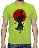 latostadora - Camiseta Samurai para Hombre Pistacho M
