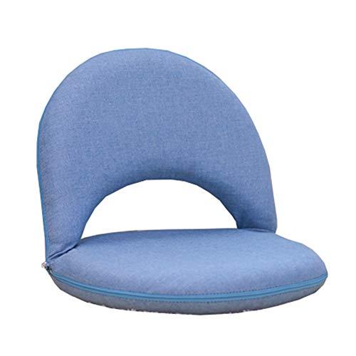 LJFYXZ Chaise de Sol Réglage à 6 Vitesses Canapé Paresseux Pliable Facile à enlever et à Laver Chaise Portable À l'intérieur et à l'exterieur (Couleur : Bleu)