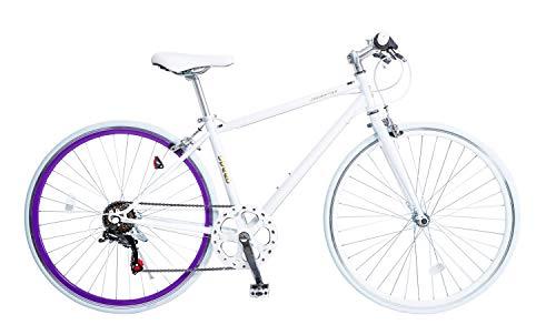 21Technology クロスバイク (700x28cタイヤ) 自転車 シティサイクル シマノ製6段変速 レボシフター フラットハンドルバー 前後キャリパーブレーキ 通勤 通学 街乗り スポーツ CL266