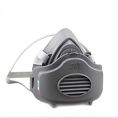 Half Gezicht Gasmasker met Filter Respirator, Veiligheid Chemische Millitaire Industrie Stofmasker Spray Verf Masker voor Andere Werk Bescherming, Met Filter Katoen * 10