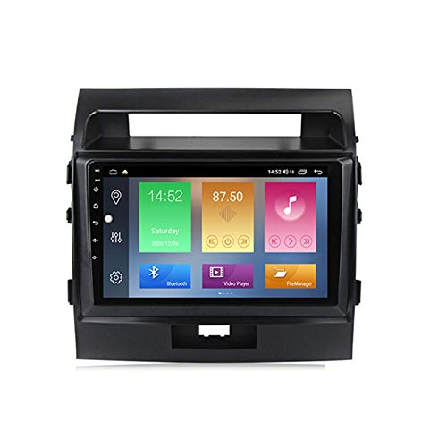 ADMLZQQ Android Car Stereo para Toyota Land Cruiser 200 2007-2015 Navegación GPS Apoyo BT+WiFi Controles del Volante Enlace Espejo Hands-Free Calls + Cámara de Reversa,M300 3+ 32g