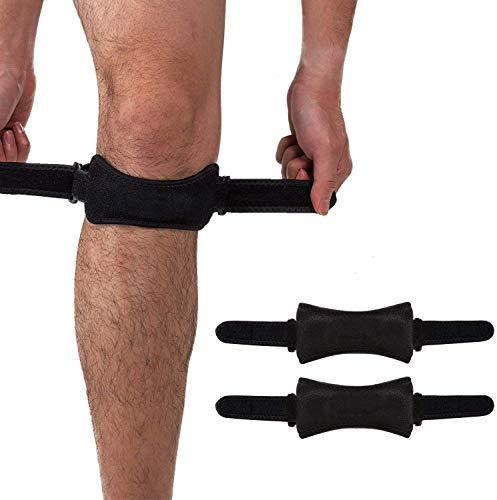Rodilleras para rótula (2 unidades), alivio del dolor producido por tendinitis, correas de sujeción para senderismo, fútbol, baloncesto, correr, saltar, tenis, voleibol y sentadillas