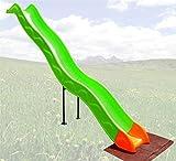 Loggyland Anbaurutsche Wellenrutsche 3,32m für Podesthöhe: Podesthöhen: 140 - 160 cm BZW 1,4 -...