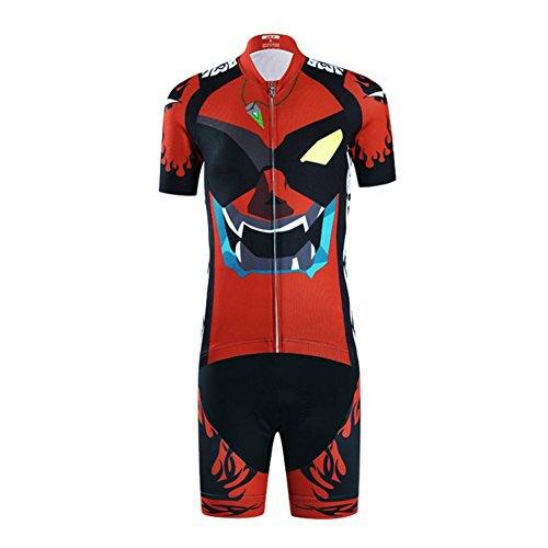 Traje De Ciclismo Niño Maillot De Ciclismo Niño (Bicicleta Camiseta Manga Corta + Pantalones con Asiento Acolchado)