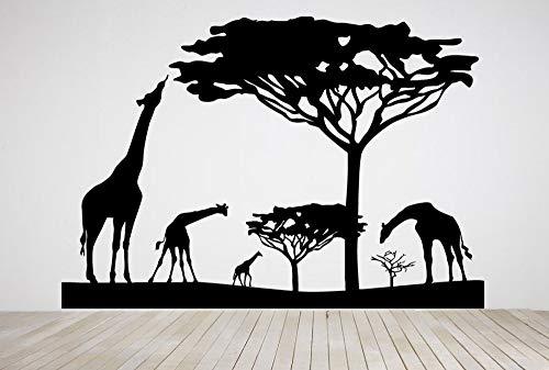 fancjj Etiqueta de Animales Salvajes Etiqueta de África Pegatinas de Pared Carteles Tatuajes de Pared Etiqueta de la Decoración Mural Etiqueta de Animal Salvaje 40x58CM