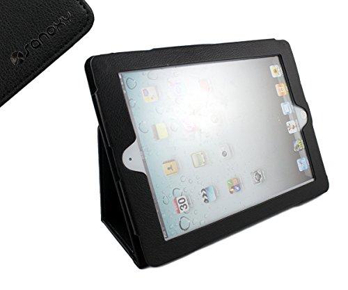 SANOXY IPAD 2/3/4 Vegan PU Leather Case With Stand for Apple IPAD 2/3/4 (Black)