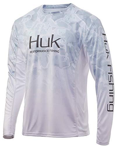 Huk Men's Standard Icon X Camo Fade Long Sleeve Performance Fishing Shirt with +50 UPF Sun Protection, Kenai, X-Large