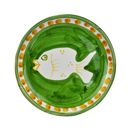 Juego de 4 platos de aceite de cerámica POSEIDONE 10 cm Arcucci (verde)