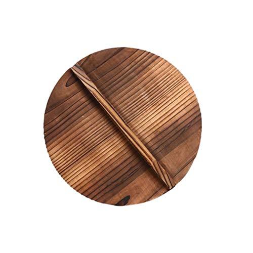Hemoton Holzdeckel für Töpfe Und Pfannen Anti-Hot-Anti-Spillover-Pfannendeckel mit Griff Topfdeckel Ersatz für Bratpfanne Und Kochgeschirr 29 * 29 * 1. 6Cm