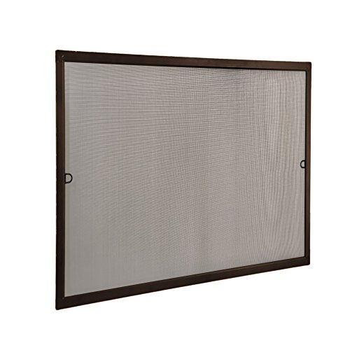 JAROLIFT Mosquitera con marco de aluminio - SlimLine para ventanas 100 x 150cm, color marrón - Montaje sin perforación
