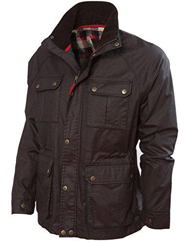 Vedoneire Chaqueta para Hombre Wax Jacket (3050 Brown) Chaqueta Abrigos de Cera de algodón marrón