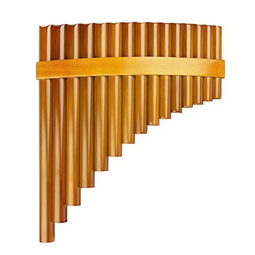 Strumento musical flauto di bambù naturale Strumento musicale Pan Flauto Strumento di vento Panpipes Flauta Handmade Panflute (Color : Right)
