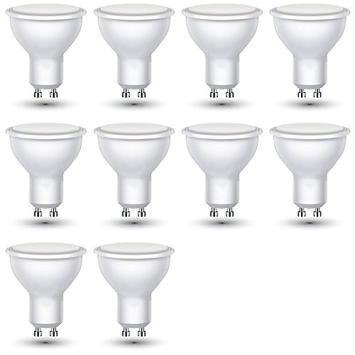 10-er Pack - ZONE LED SET - GU10-3W - LED Lampe - Weisses Licht (6400K) - 250 Lm - Entspricht 25W - Abstrahlwinkel 110°