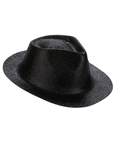 DEGUISE TOI - Chapeau pailleté Noir Adulte - Taille Unique