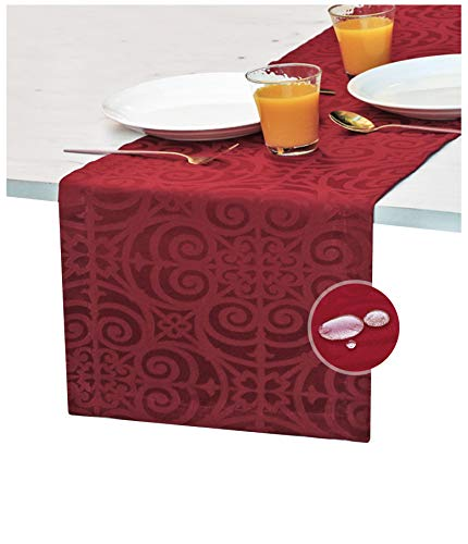 Red Table Runner 72 inch, Cranberry Dresser Scarf, Outdoor Coffee Table Runner, Burgundy Dining Spill-Proof Table Runners Waterproof, Crimson Dinner Parties, Decor Thanksgiving, Holiday, Christmas
