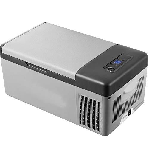 LFSP-minikoelkast Portable Camping Koelkast Compressor Koeling, oplaadbare batterij Outdoor 12V auto koelkast met grote capaciteit opslag vriezer, afgekoeld tot -20 ° (15L, 20L Optioneel)