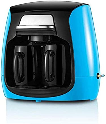 AMAZACER Full-Automatic Household Coffee Maker with Double Cups American Coffee Machine,Green (Color : Blue)