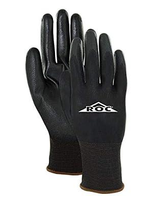 MAGID Mechanics Work Gloves | Coated Mechanic Gloves for Work - Mens & Womens - Black/Black - Size 8 (M) - 12 Pair