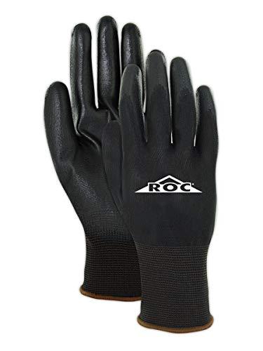 Magid Glove & Safety BP16911 Mechanics Work Gloves   Coated Mechanic Gloves for Work - Mens & Womens - Black/Black - Size 11 (XXL) - 12 Pair