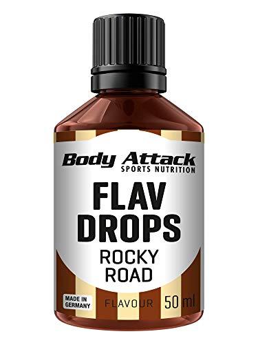 Body Attack Flav-Drops, Aroma für Lebensmittel, zuckerfrei, kalorienfrei, vegan Rocky Road (50ml)