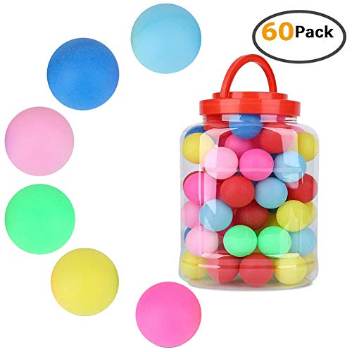 VGEBY1 60 Teile/Satz 40mm Ping Pong bälle farbig, Advanced Durable tischtennisball für Ping Pong Traning/Werbung/Lotterie Spiel
