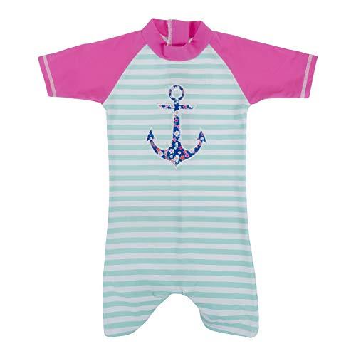 Banz BANZ1236 Costume Intero Termico Manica Corta, Bambino, Ancora, 18 mesi
