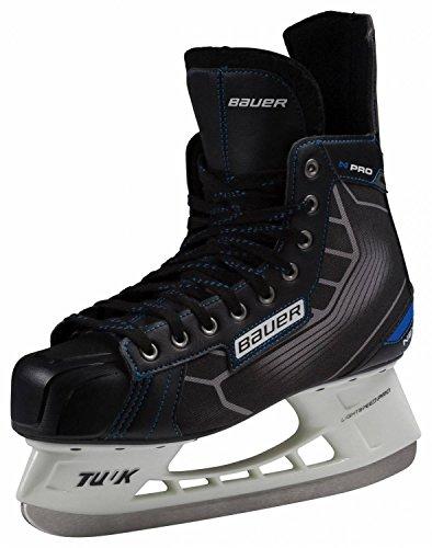 Bauer Herren Eishockeyschuhe Complete Nexus Pro Schlittschuhe, Schwarz/Blau, 10.5
