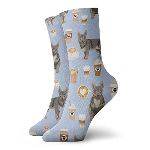 Schwedische Vallhund Hundesocken, kaffeebraun, kurze Socken, feuchtigkeitsableitende Socken, lässige Socken, die beste Wahl
