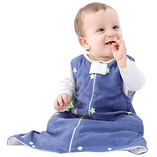 Baby slaapzak peuter jongens meisjes flanel draagbaar deken 2.5 Tog L / 12-24 Months Blauw