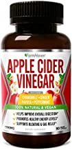 Apple Cider Vinegar Capsules with Ginger, Papaya & Chamomile | 1390mg | Improves Digestion, Energy, Immunity | Soothes Gas & Bloating Issues | Like with Mother | Non-GMO & 100% Natural |90 Capsules