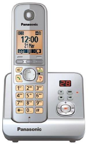 Panasonic KX-TG6721GS - Teléfono inalámbrico (pantalla de 1,8