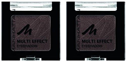 Manhattan Multi Effect Eyeshadow – Brauner, schimmernder Lidschatten in handlicher Dose, farbintensiv und langanhaltend – Farbe Choc Choc Kiss 96Q – 2 x 2g