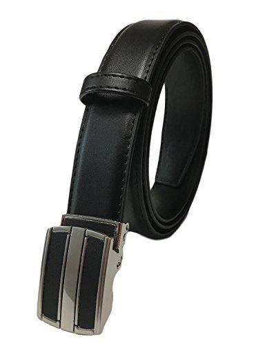 本革 穴無し 無段階スライド式レザーベルト メンズビジネスベルト S、M~140cmまで調節OK 超ロングサイズ 大きいサイズ LL 3L 4L 5L