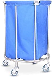 LBWARMB Panier à Linge Salle de Bain Chariot de buanderie Chariot médical Chariot Hôtel Bleu Chariot avec Rouleaux roulant...