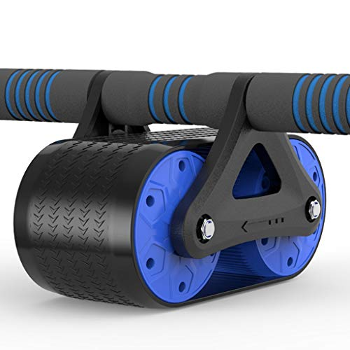 KKCD Rueda Abdominal ABS Abdominal Wheel AB Roller con Antideslizante Sin Ruido Alfombra Crossfit Muscle Trainer Ejercicios Roller Fitness Equipment Body Shaping (Color : A)