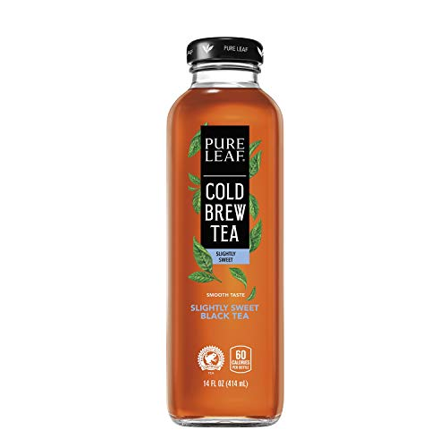 of popular iced tea brands Pure Leaf Cold Brew Iced Tea, Slightly Sweet Black Tea, 14 Fl oz Bottles, , 8 Count