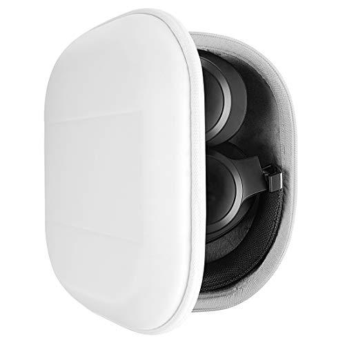 Geekria UltraShell Kopfhörer Tasche kompatibel mit JBL Tour ONE, TUNE 750, Live 650 BTNC, Live 500BT, E65BTNC Hülle, Ersatz Hartschale Reisetasche mit Kabelaufbewahrung (weiß)