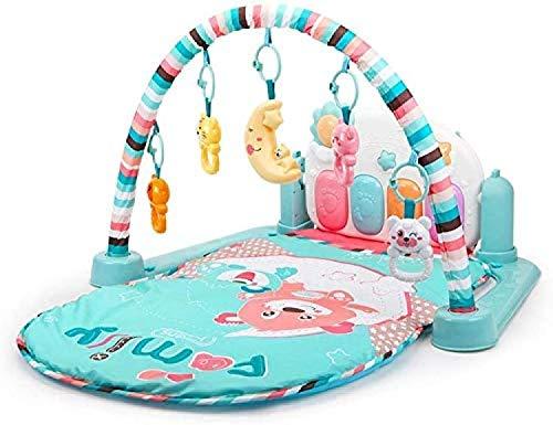 ZHJIUXINGZD Alfombrilla De Gimnasia para Juegos, Alfombrilla para Patadas Y Juegos para Actividades para Bebés con Espejo De Piano Y Juguetes De Sonajero