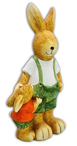Wichtelstube-Kollektion Figuras de conejos de Pascua, decoración para jardín, figura de jardín, 53 cm