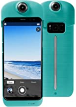 ION360 U - 4K Ultra HD 360-Degree Camera and Smartphone Charging Battery Case - Samsung 8+ Teal