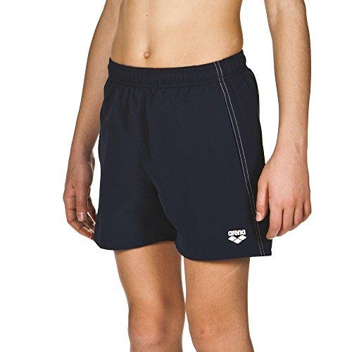 arena Jungen Badeshortss Fundamentals Boxer (Schnelltrocknend, Seitentaschen, Kordelzug, Weiches Material), Navy-White (71), 164