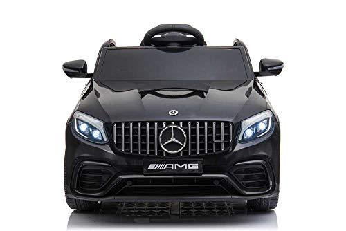Babycar Mercedes GLC Coupe' 63 AMG ( Nera ) Nuova Versione Macchina Elettrica per Bambini Ufficiale con Licenza 12 Volt Batteria con Telecomando 2.4 GHz Porte Apribili con MP3 Sedile in Pelle