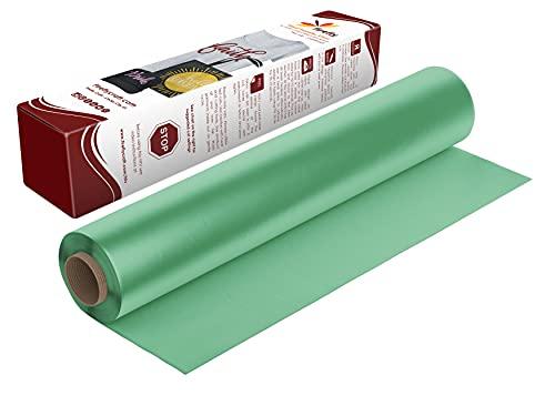 Firefly Craft Regular Mint Green Heat Transfer Vinyl | HTV Vinyl | Mint Green Iron On Vinyl for Cricut and Silhouette | 3 Pieces - 12 Inch x 20 Inch Each (5 Feet) | Heat Press Vinyl for Shirts