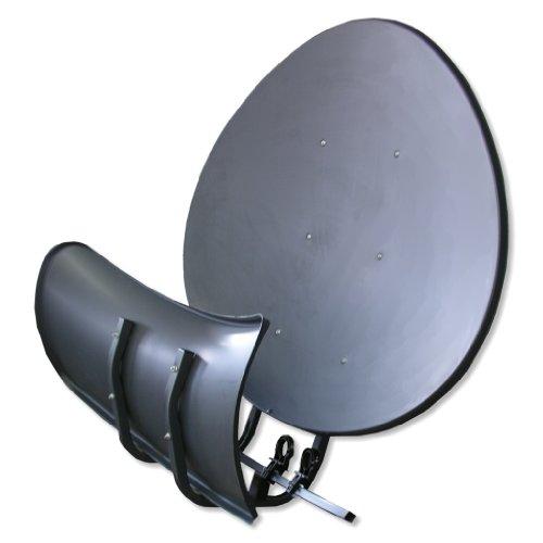 Satspiegel Toroidal (Wavefrontier) T55 P - anthrazit - Multifocus Antenne - inkl. 5 Stück LNB Halter