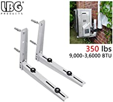 AC Parts Universal Outdoor Wall Mounting Bracket for Ductless Mini Split Air Conditioner Condensing Unit,Support up to 350lbs(9000-36000BTU)