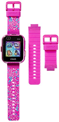 VTech KidiZoom Smartwatch DX2 Special Edition Floral Birds with Bonus Vivid Violet Wristband, Great Gift For Kids, Toddlers, Toy for Boys and Girls, Ages 4, 5, 6, 7, 8, 9 6