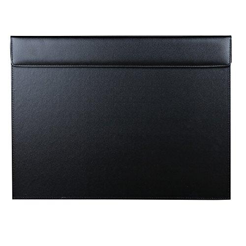 KINGFOM - Vade sobremesa, 46 x 35 cm, piel de alta calidad (Negro)